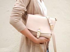 Leather Handbag Hand Stitched by harlex on Etsy