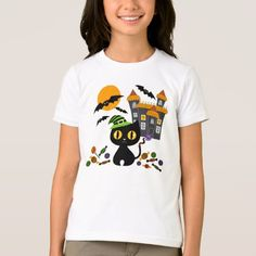Shop Black Kitty Halloween Girls T Shirts created by kazashiya. Personalize it with photos & text or purchase as is! Bring Back Our Girls, Beer Girl, Sporty Girls, Raglan Shirts, Black Kitty, Colorful Shirts, Fitness Models, T Shirts For Women, Casual