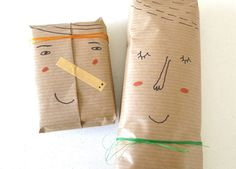 DIY: 5 tips to send out great personalized packages and mail without robbing your bank account! by Kim Welling: what an awesome green way for packaging Wrapping Ideas, Wrapping Gift, Craft Gifts, Diy Gifts, Handmade Gifts, Pretty Packaging, Gift Packaging, Packaging Ideas, Diy Cadeau