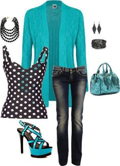 LOVE the cardigan and I like the idea of a graphic black and white top underneath - just not THIS black and white top.