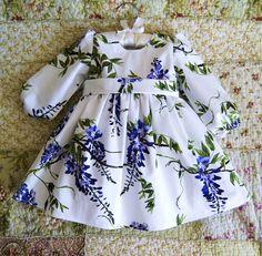 """Платье для девочки """"Цветущая глициния"""" - белый, цветочный, платье для девочки, детское платье"""