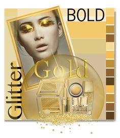 """Bold Glitter"" by drigomes ❤ liked on Polyvore featuring beauty, Kane, Bobbi Brown Cosmetics, Guerlain, Smith & Cult, Seed Design and Giorgio Armani"