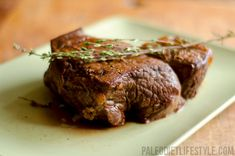 Roast Beef With Thyme, Garlic And Red Wine