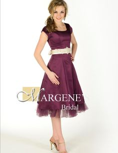 I love this color, I want to try to keep the bridesmaid dresses in the same color spectrum of like burgundy to this also including a champaign color and dusty rose :) And was thinking since evening wedding I though floor length would be pretty :)