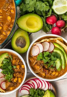 Authentic Red Posole Recipe (Pozole Rojo) This EASY posole soup offers bold spices, tender pork and hominy, with crunchy toppings! Authentic Mexican Recipes, Authentic Red Posole Recipe, Mexican Pork Recipes, Mexican Desserts, Spanish Recipes, Grilled Vegetable Kabobs, Grilled Vegetables, Pozole Verde Recipe, Pozole Rojo