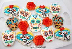 FIESTA MEXICANA birthday   caveira cookies fiesta birthday