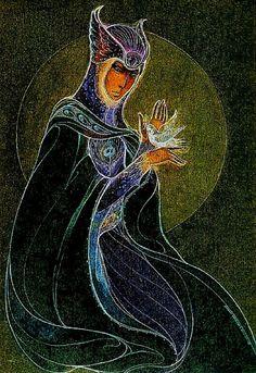 """""""Goddess with Dove"""" par Susan Seddon Boulet"""