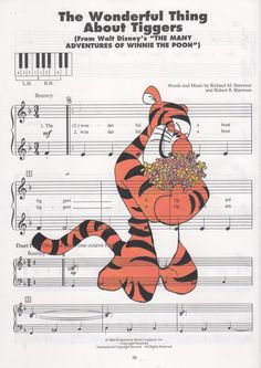 Repurposed Sheet Music Featuring Hand Painted Watercolor of Disney's Tigger from the Adventures of Winnie the Pooh *Buy 2 get 3rd FREE by SimpleeSaid on Etsy