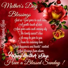 Mothers Day Blessings Happy Mother's Day