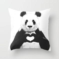 Bear heart throw pillow..  So cute!!