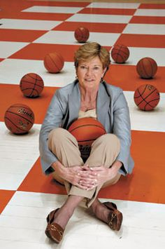 The best coach in women's basketball history. Tennessee Lady Volunteer coach Pat Summit.