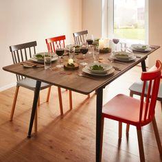 Esstisch in Grau online bestellen Dining Table, Rustic, Furniture, Home Decor, Dinner Room, Dinning Table, Oak Tree, Food, Country Primitive