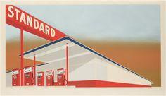 Edward Ruscha, Standard Station, 1966