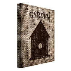 "Portfolio Canvas ""Garden Burlap III"" by Beth Albert Graphic Art on Wrapped Canvas Size:"