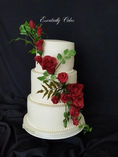 Rose Wedding by Essentially Cakes - http://cakesdecor.com/cakes/302550-rose-wedding #weddingcakes