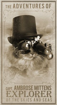This is such a cool Steampunk Kitty!