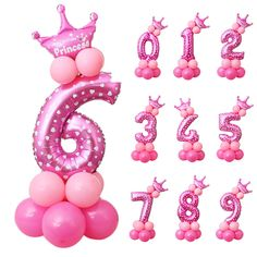 Pink/Blue Number Foil Balloons Digit Air Balls Child Birthday Party Balloons Wedding Decoration Balloon Party Supplies  Price: 4.77 USD