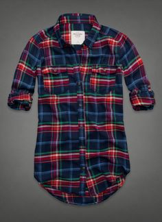 Shannon Flannel Shirt good colors for darker hair