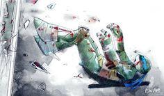 TMNT human by Nekoi-Echizen on DeviantArt Tmnt 2012, Ninja Turtles Art, Teenage Mutant Ninja Turtles, Teenage Turtles, Tmnt Human, Tmnt Leo, Leonardo Tmnt, Sad Drawings, Image Manga