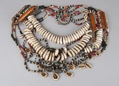 Slave necklace made of shells, beads.Found/Acquired: Kerala; (Asia,South Asia,India,Kerala)