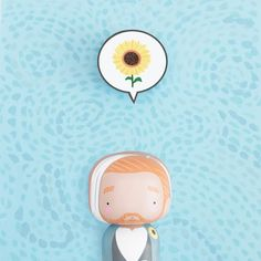 Vincent Van Gogh Kokeshi doll - Sketchinc