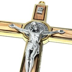 Benedict Wall Crucifix - Exorcism- Cross - Blessed B - Catholically Catholic Gifts, Religious Gifts, St Benedict Cross, Pope Leo, Saint Peter Square, Catholic Crucifix, Wall Crosses, Pope Francis, Golden Color