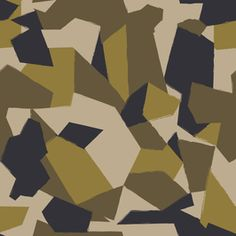 Geometric Custom Camo in Army & Olive by FLOW DESIGN - Army and Olive Geometric custom camo seamless repeat. Camouflage Wallpaper, Camo Wallpaper, Graphic Wallpaper, Pattern Art, Print Patterns, Army Look, Cool Dirt Bikes, Dome Structure, Ocean Fabric
