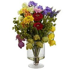 Nearly Natural 4987 Spring Floral Arrangement