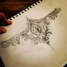 Rough sternum idea #tattoo #design #art #artist #tattooartist #sternumtattoo #swyd