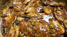 Pollo con ciruela pasa y aceitunas :http://www.recetasjudias.com/pollo-con-ciruela-pasa-y-aceitunas/