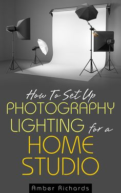 How To Set Up Photography Lighting For A Home Studio Ebook (Diy Photo Studio) Home Photo Studio, Home Studio Photography, Photography Lessons, Photoshop Photography, Photography Tutorials, Photography Business, Digital Photography, Photography Ideas, Fashion Photography
