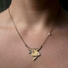 Antique Bull Necklace