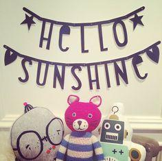 #Wordbanner #tip: Hello #sunshine - Buy it at www.vanmariel.nl - € 11,95