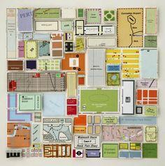 Idea para reciclar #mapas. Pieza de Chris Kenny, a través de Whimsical World of Laura Bird.