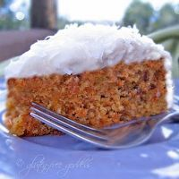 Gluten-Free Carrot Cake with Coconut and Cream Cheese Icing by Gluten Free Goddess