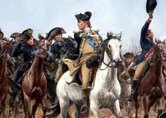George Washington leading the Continental Army