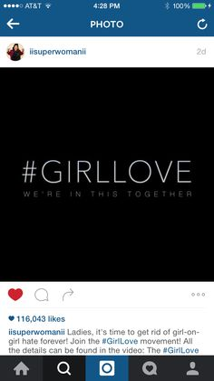 Lilly Singh (aka superwoman), asked girls to start spreading #Girllove in a recent video. She asked girls to abolish girl-on-girl hate with a bunch of her friends.   The people I want to send #Girllove to is  @deleon0240  @pfwilliams45  @katemr814   GO! Spread the word of #Girllove