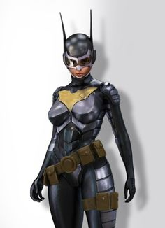 Batgirl    This almost looks like something from the Batman Arkham City game..!