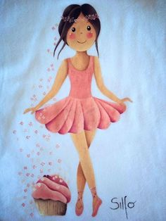 Dress Painting, T Shirt Painting, Tole Painting, Fabric Painting, Painted Rocks, Hand Painted, Doll Drawing, Country Paintings, Painted Clothes