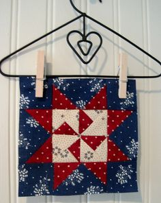 Great way to display a little quilt.