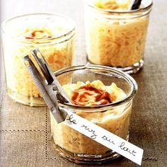 "Miss no gluten's french""riz au lait"" Just Desserts, Delicious Desserts, Dessert Recipes, Yummy Food, Chile Picante, Brown Butter, Creme Dessert, Eat Dessert First, Risotto"