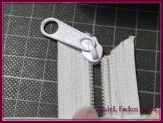 Cordmeise: Reißverschluss einfädeln