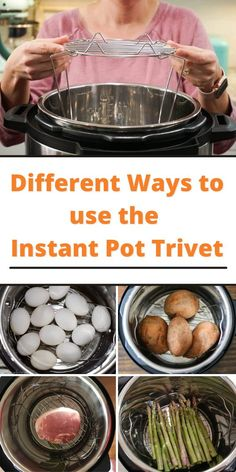 """Learn the best ways to use the Instant Pot Trivet with today's handy blog post. We put together different ways to get the most from your trivet. When you initially unpack your Instant Pot, you'll find a few extra items that come together. One of those additions is the trivet or like some technical people will call it """"the metal insert with collapsible sides"""". World Recipes, Instant Pot, Good Food, Vegetables, Cooking, Metal, People, Blog, Tips"""