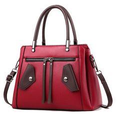 21club brand women new solid totes rivet medium handbag high quality lady party purse casual - Shop The Nation