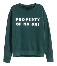 Sweatshirt mit Druck | Dunkelgrün | Damen | H&M DE