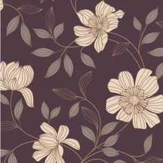 This stylised floral design is an easy living paper which will look great on more than one wall.