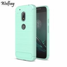 """For Motorola Moto G4 Play Cover Soft TPU Brush Rugged Rubber Back Case For Moto G4 Play Shockproof Silicone Phone Case 5"""" Fundas - Green"""