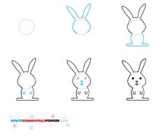 how to draw a bunny, rabbits, peter rabbit, kamryn art, peopl craft, drawing animals for kids, how to draw animals for kids