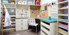 When designing a custom work station, be sure to include plenty of desk space as well as shelving. A corner work station will maximize space in smaller rooms. In addition, a cork wall surface works great as an inspiration board.