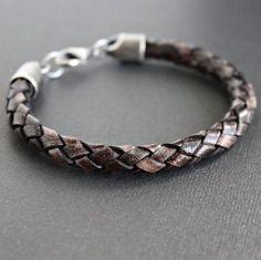 Men's Brown Natural Dye Braided Bracelet